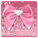 Rose Gold Diamond Bow Keyboard by Super Cool Keyboard Theme