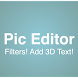 Pic Editor With 3D Text by Young Developers