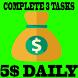 Earn Money 5$ Day