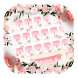 Pink Rose Keyboard Theme pink flowers by NeoStorm We Heart it Studio