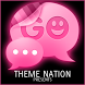 GO SMS Pro Theme Pink Neon by Duality Apps