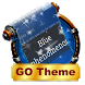 Blue phenomenon GO SMS by Rich Themes