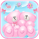 Cute Bear Love Theme Teddy + 3D cartoon icon pack by Cool Soloto Themes