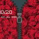 Rose Zipper Lock Screen by C Zipper Lock +
