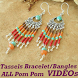 Tassels Bracelet Making VIDEOs Pom Pom Earrings by Videos Tutorial Apps 2017 18