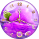 Purple Clock Live Wallpaper by Webelinx Love Story Games