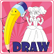 Learn how to draw princess by applic.club