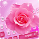 Pink Rose Keyboard Theme by Cool Keyboard Theme Studio