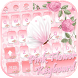 Pink Flower Keyboard Theme pink butterfly by NeoStorm We Heart it Studio