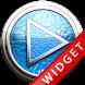 Poweramp Widget Lightblue Leat by Maystarwerk Skins & Widgets Vol.1