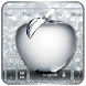 Shiny Apple Silver Glitter Keyboard Theme by My Lovely Android Themes 2018