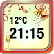New Year Weather Clock by The World of Digital Clocks
