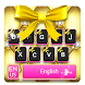Gold Bow Keyboard Pink Theme by Cool Keyboard Theme Studio