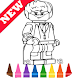 Learn Draw Coloring for Lego Harry Wizards by Fans