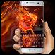 Fire roses love flower beautiful keyboard by Bestheme Keyboard Designer 3D &HD