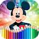 How to Color Mickey Mouse - Coloring Book