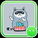 Stickey Cute Little Raccoon by Awesapp Limited