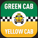 Green & Yellow Cab Somerville by Cheryl Horan