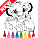 Learn Draw Coloring for The King Lion by Fans