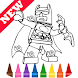 Learn Coloring for Lego Bat Man Heroes by Fans by Learn Draw Coloring Camps