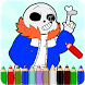 How To Color Sans and papyrus by ColoringFreeGames