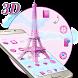 3D Pink Paris Eiffel Tower by Launcher Design