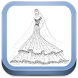 Sketch of Design of Bridal Gown by opsiapp