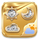 Gold GO Weather Widget Theme by GOMO Go