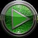 Poweramp skin green lizard by Maystarwerk Skins & Widgets Vol.2