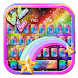 Glitter Rainbow Keyboard Theme by Super Cool Keyboard Theme