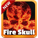 Fire Skull GO Keyboard by SuperColor Themes