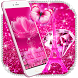 Shiny Gemstone Pink Girly typewriter by The Best Android Themes