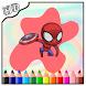 Coloring Superhero Game by Superhero Coloring Games Kids