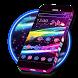 Neon Sparkle Line Theme by Launcher Fantasy