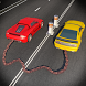 Chained Cars against Bollard by Zippy Games