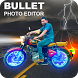Bullet Photo Editor - Bullet Bike Photo Frames by Benzyl Studios