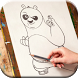 How to Draw Kungfu Panda by Seven Games Art