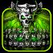 Free Dragon Skull Neon Keybaord by Keyboard Theme Creator