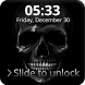 Hell Devil Death Skull Screen Lock by Key Lock Skin