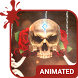 Rose Skull Animated Keyboard