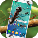 Ants on screen funny joke- Live wallpaper with ant