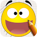 Draw Smilies by Fill the Outlines