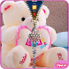 Teddy Bear Zipper Lock Screen by zipper lock screens