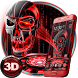 3D Tech Blood Skull Theme by Launcher Design