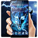 3D blue fire Ice wolf launcher theme by Bestheme 2018 Android HD wallpaper theme Studio
