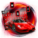 Red Speed Car Keyboard Theme by cool wallpaper