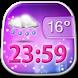 Beautiful Weather Clock Widget by Super Widgets