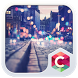 Street Night City View Theme by Best Android Themes Workshop