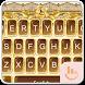 Golden Gorgeous Rose Keyboard Theme by Fashion Cute Emoji
