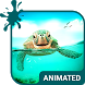 Cute Turtle Animated Keyboard by Wave Design Studio